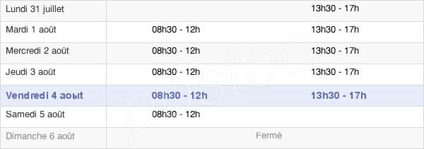 horaires d'ouverture de la Mairie De Crac'H