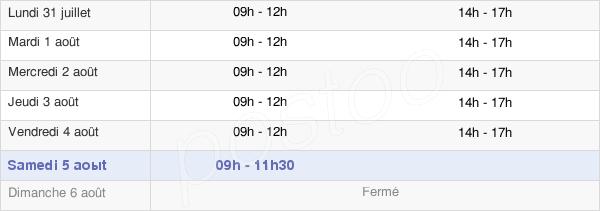 horaires d'ouverture de la Mairie De Gâvres
