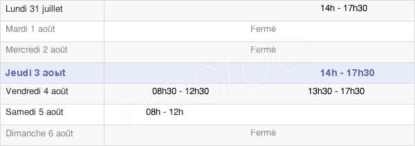 horaires d'ouverture de la Mairie De La Grée-Saint-Laurent