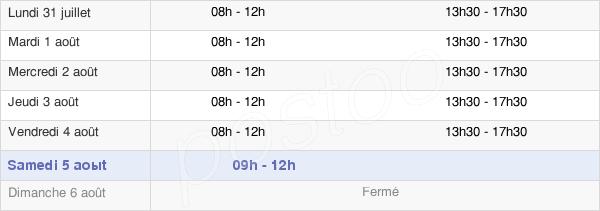 horaires d'ouverture de la Mairie De Séné