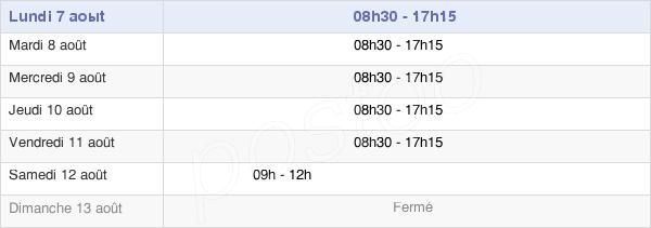 horaires d'ouverture de la Mairie De Lorient