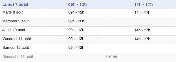 horaires d'ouverture de la Mairie De Guéhenno