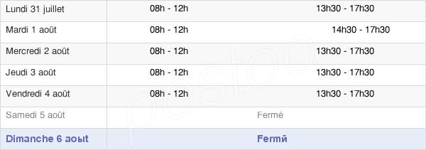 horaires d'ouverture de la Mairie De Carentoir