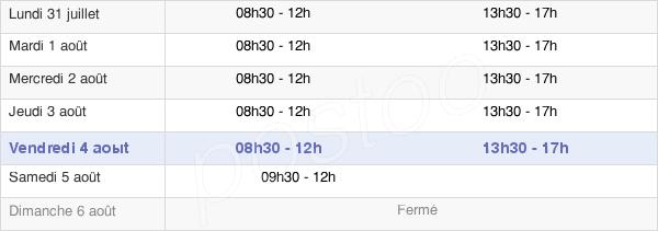 horaires d'ouverture de la Mairie De Cléguérec