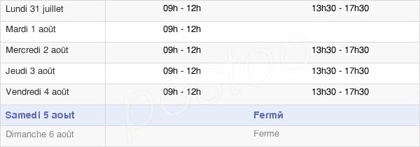 horaires d'ouverture de la Mairie De Peillac