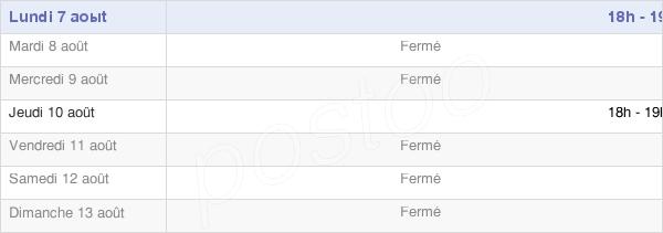 horaires d'ouverture de la Mairie De Crouy-Saint-Pierre