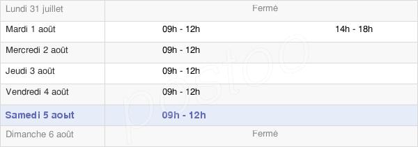 horaires d'ouverture de la Mairie De Saint-Laurent-Sur-Oust