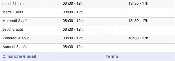 horaires d'ouverture de la Mairie De Locqueltas