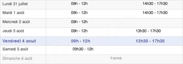 horaires d'ouverture de la Mairie D'Étel
