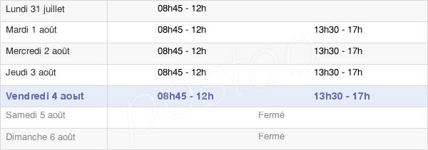 horaires d'ouverture de la Mairie De La Roche-Bernard