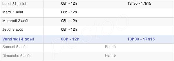 horaires d'ouverture de la Mairie Du Guerno