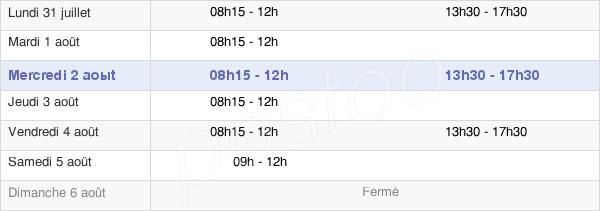 horaires d'ouverture de la Mairie De Saint-Dolay