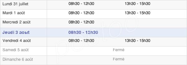horaires d'ouverture de la Mairie De Buléon