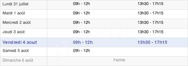 horaires d'ouverture de la Mairie De Guiscriff