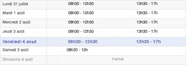 horaires d'ouverture de la Mairie De Belz