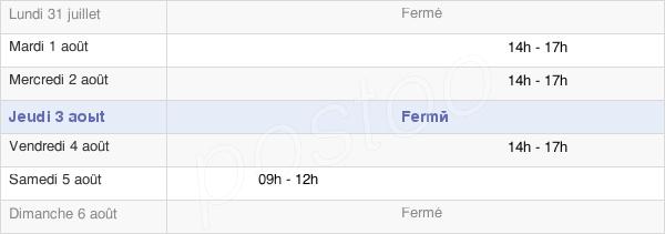 horaires d'ouverture de la Mairie De Saint-Malo-De-Beignon