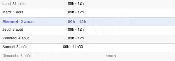 horaires d'ouverture de la Mairie De Cournon