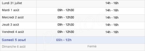 horaires d'ouverture de la Mairie De Réguiny