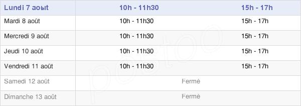 horaires d'ouverture de la Mairie De Hoëdic