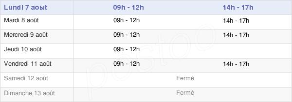 horaires d'ouverture de la Mairie Du Tour-Du-Parc