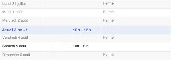 horaires d'ouverture de la Mairie De Folleville
