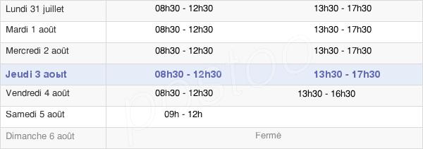 horaires d'ouverture de la Mairie De Quiberon