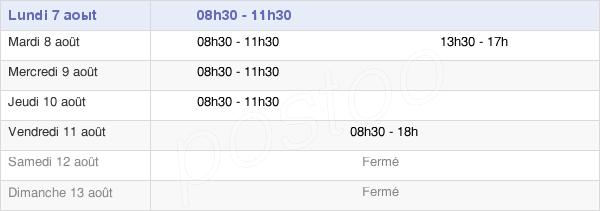 horaires d'ouverture de la Mairie D'Aveizieux