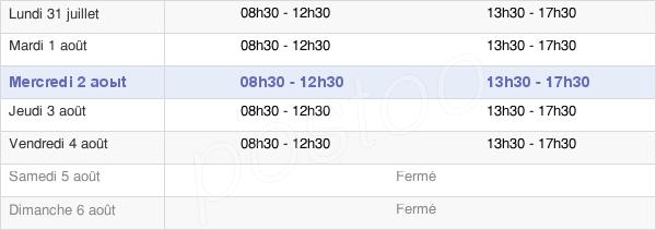 horaires d'ouverture de la Mairie De Sury-Le-Comtal