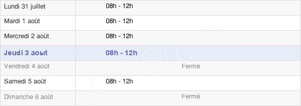 horaires d'ouverture de la Mairie De Caloire