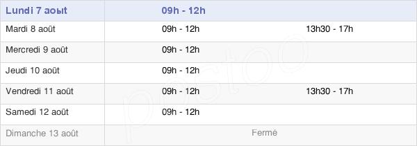 horaires d'ouverture de la Mairie D'Ambierle