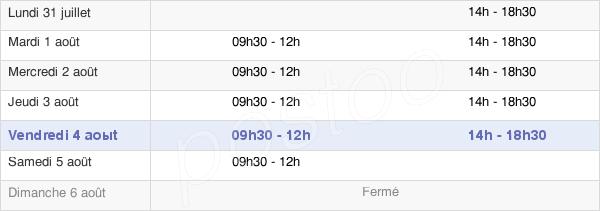 horaires d'ouverture de la Mairie De Feuquières-En-Vimeu