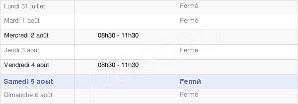 horaires d'ouverture de la Mairie De Montarcher