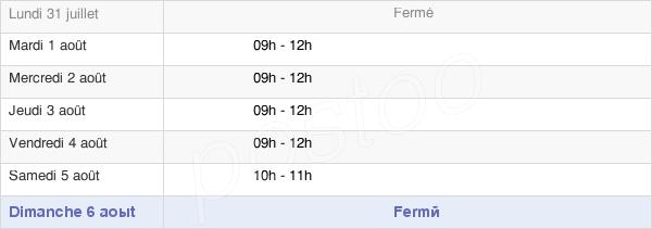 horaires d'ouverture de la Mairie De Sail-Sous-Couzan