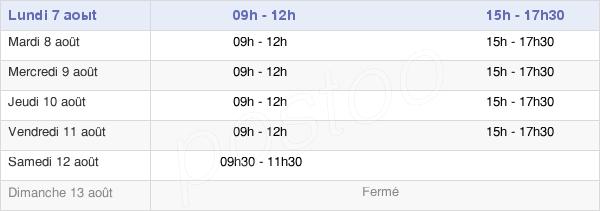 horaires d'ouverture de la Mairie De Saint-Héand
