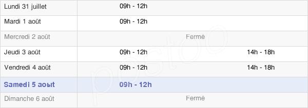horaires d'ouverture de la Mairie De Saint-Maurice-En-Gourgois