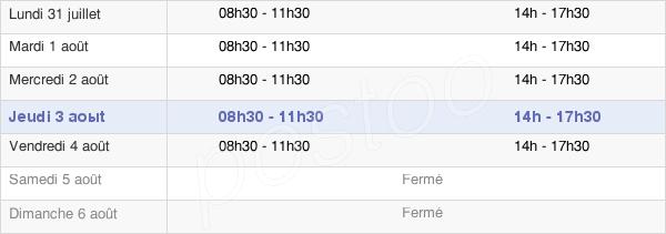 horaires d'ouverture de la Mairie De Saint-Paul-En-Jarez