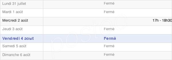 horaires d'ouverture de la Mairie De Fignières
