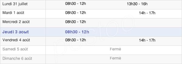 horaires d'ouverture de la Mairie De Bellegarde-En-Forez