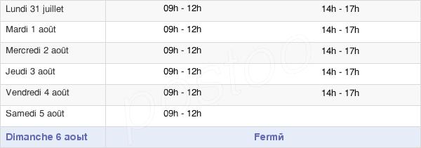 horaires d'ouverture de la Mairie de Senlis