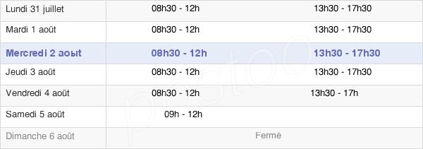 horaires d'ouverture de la Mairie De Saint-Leu-D'Esserent