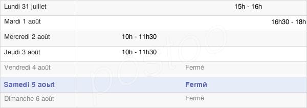 horaires d'ouverture de la Mairie De Dompierre-Becquincourt