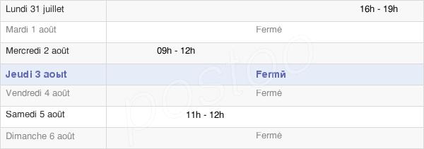 horaires d'ouverture de la Mairie De Villers-Saint-Frambourg