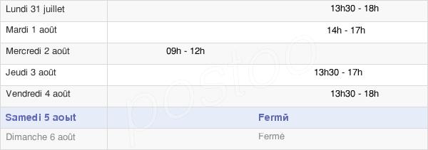 horaires d'ouverture de la Mairie De Villers-Saint-Sépulcre