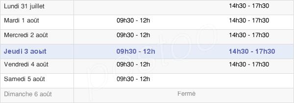 horaires d'ouverture de la Mairie D'Orry-La-Ville