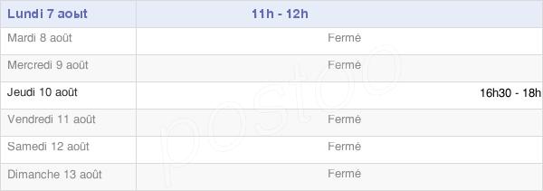 horaires d'ouverture de la Mairie De Saint-Crépin-Aux-Bois