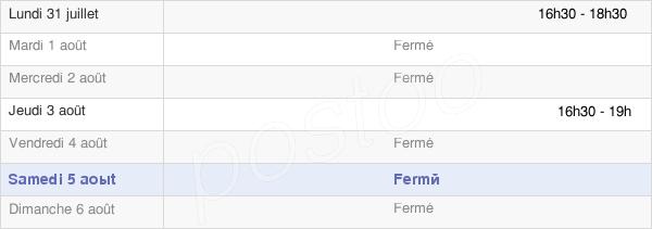 horaires d'ouverture de la Mairie De Béhéricourt