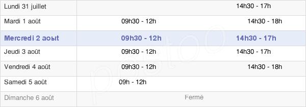 horaires d'ouverture de la Mairie De Pont-Sainte-Maxence
