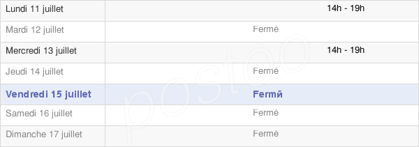 horaires d'ouverture de la Mairie De Moulin-Sous-Touvent