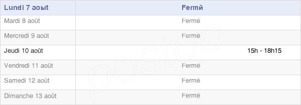 horaires d'ouverture de la Mairie De Fossemanant