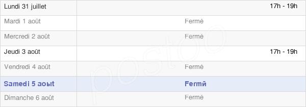 horaires d'ouverture de la Mairie De Villers-Sur-Auchy